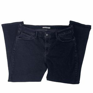 Levis Jeans Size 18S Classic Mid Rise Skinny Dark